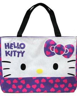 Eikoh Hello Kitty Large Tote Shoulder Bag w/ Heart Design - Purple Bow
