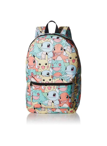 Pokemon All Over Print Kanto Starters Pastel Sublimated Backpack Bag