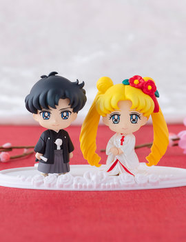 Megahouse Petit Chara Sailor Moon Happy Wedding Japanese Wedding Ver