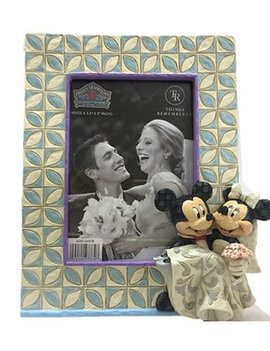 Disney Mickey and Minnie Wedding by Jim Shore Picture Frame