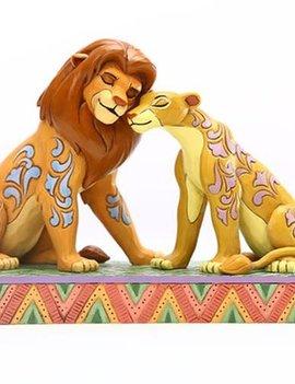 Disney Traditions Lion King Simba and Nala Snuggling Savannah Sweethearts by Jim Shore Statue