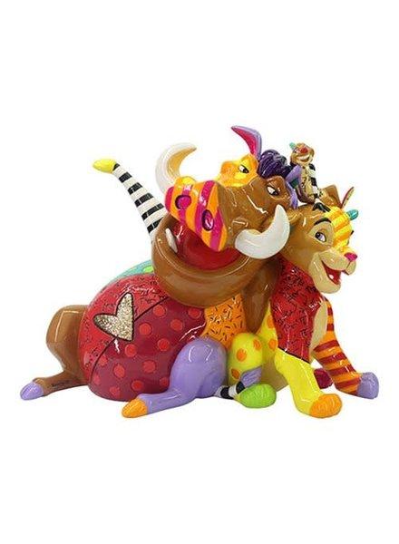 Disney Lion King Simba Timon and Pumba Statue by Romero Britto