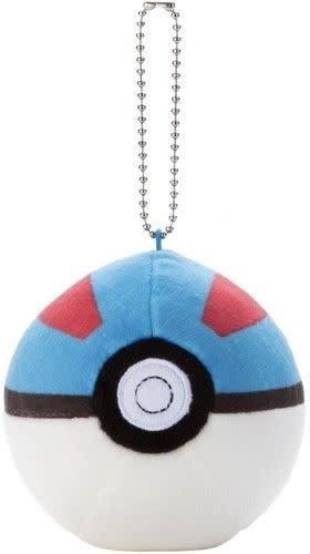 "3"" Pokemon Mocchi Mocchi Great Ball Plush Keychain"