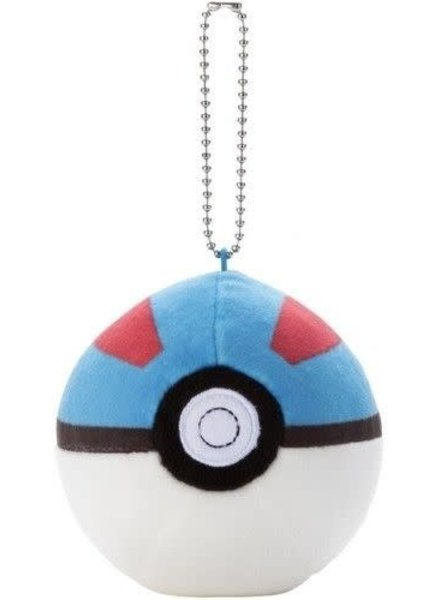 "3"" Pokemon Mocchi Mocchi Great Ball Plush Keychain"