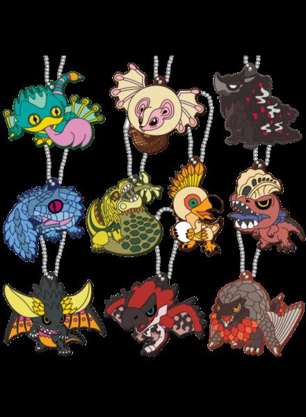 Monster Hunter World Deformed Monster Rubber Keychain