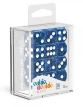 Oakie Doakie Dice Oakie Doakie Dice - D6 12CT. Marble Blue