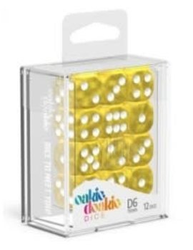 Oakie Doakie Dice Oakie Doakie Dice - D6 12CT. Marble Yellow