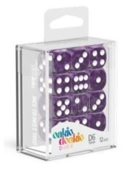 Oakie Doakie Dice Oakie Doakie Dice - D6 12CT. Marble Purple