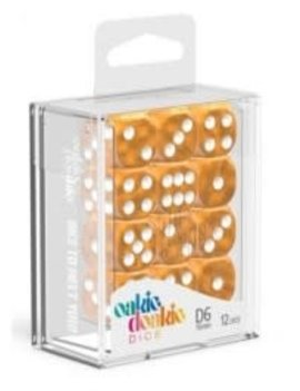 Oakie Doakie Dice Oakie Doakie Dice - D6 12CT. Marble Orange