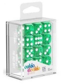 Oakie Doakie Dice Oakie Doakie Dice - D6 12CT. Translucent Green
