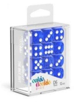Oakie Doakie Dice Oakie Doakie Dice - D6 12CT. Translucent Blue