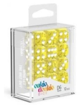 Oakie Doakie Dice Oakie Doakie Dice - D6 12CT. Translucent Yellow