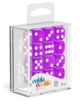 Oakie Doakie Dice Oakie Doakie Dice - D6 12CT. Translucent Purple