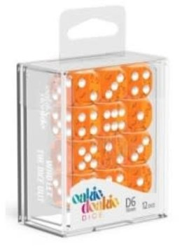 Oakie Doakie Dice Oakie Doakie Dice - D6 12CT. Translucent Orange
