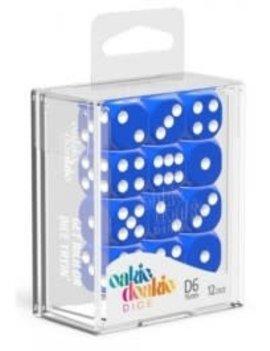 Oakie Doakie Dice Oakie Doakie Dice - D6 12CT. Solid Blue