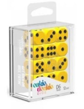 Oakie Doakie Dice Oakie Doakie Dice - D6 12CT. Solid Yellow