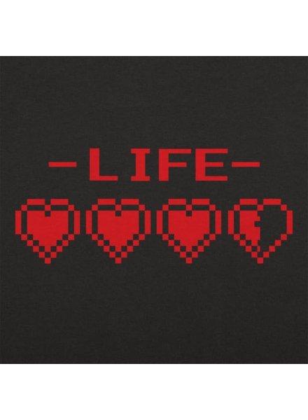 8-Bit Life Hearts T-Shirt
