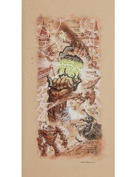 Magic the Gathering: Limited Edition Dominaria Saga Wall Scroll - Antiquities War