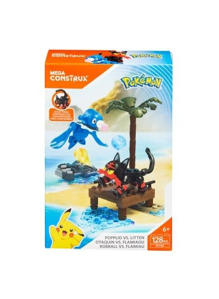 Mega Construx Pokemon: Litten vs. Popplio
