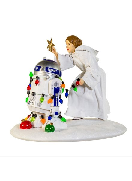 Star Wars Princess Leia and R2D2 Statue