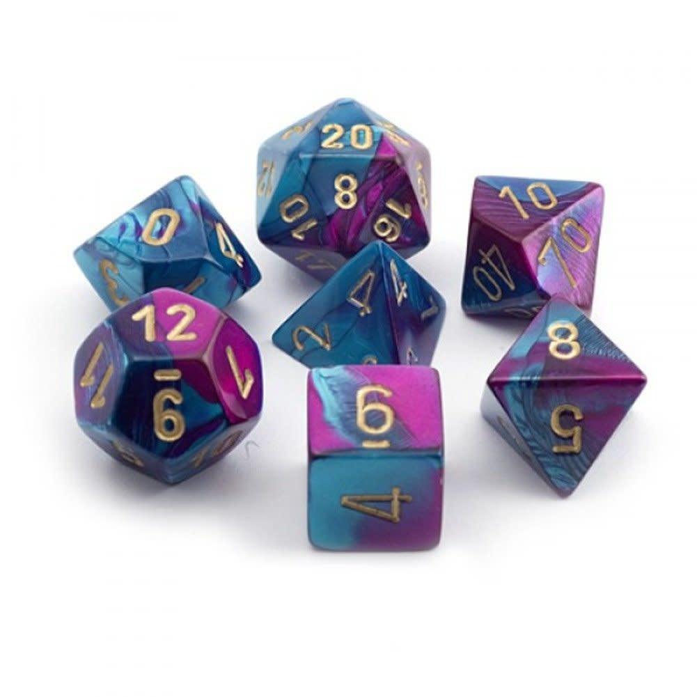 Chessex: Gemini Purple-Teal/Gold 7-Die Set
