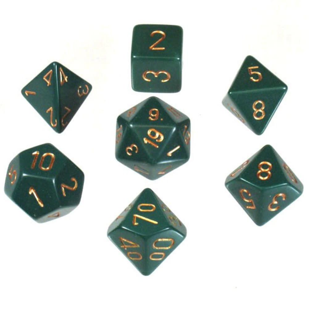 Chessex: Opaque Green 7-Die Set