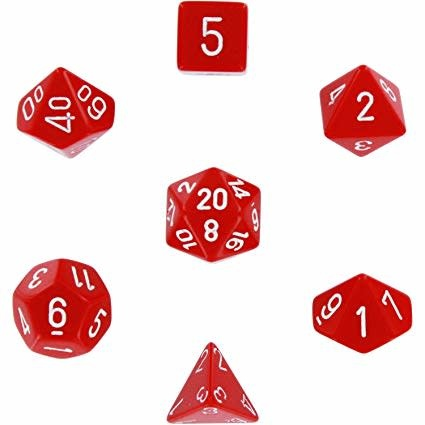 Chessex: Opaque Red With White Sets