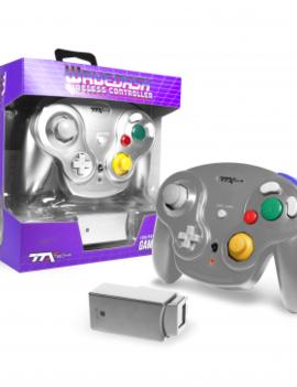 Gamecube Wireless Wavedash 2.4GHZ Controller Silver