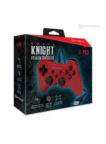 Knight Premium PS3 Controller RED