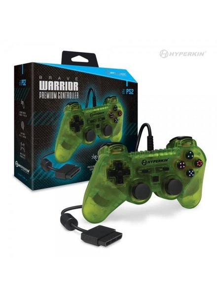 Brave Warrior Premium Controller for PS2 (Clear Yellow)