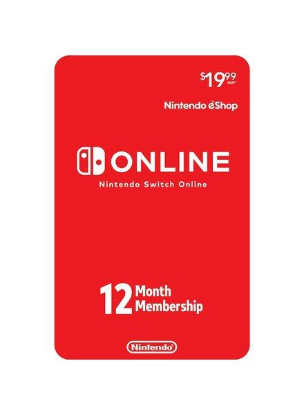 Nintendo eShop Switch Online 12 Month Subscription Card