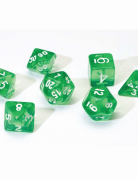 Sirius Dice Sirius Green Translucent 7ct Die Set
