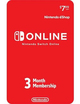 3 Month Nintendo Switch Online Subscription Card