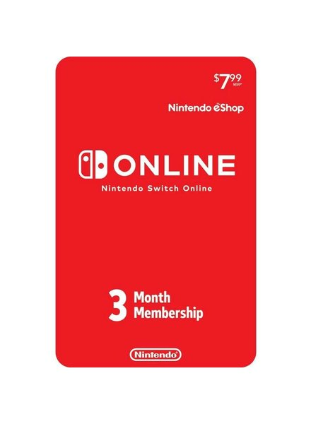 Nintendo eShop Switch Online 3 Month Subscription Card