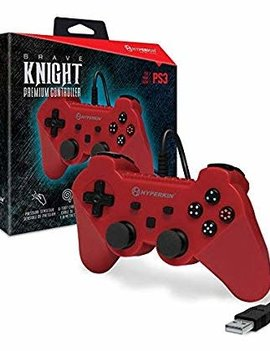 """Brave Knight"" Premium Controller for PS3/ PC/ Mac (Red)"