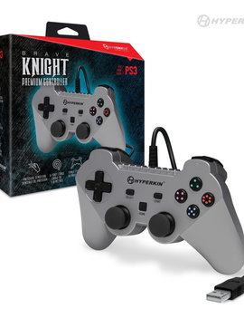 """Brave Knight"" Premium Controller for PS3/ PC/ Mac (Silver) - Hyperkin"