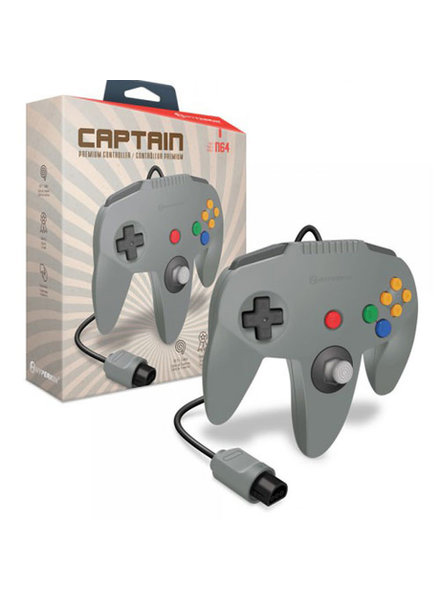 """Captain"" Premium Controller for N64 (Gray) - Hyperkin"