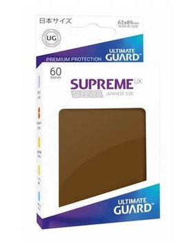 Ultimate Guard UG Small Matte Sleeves 60Ct: Brown