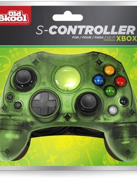 Old Skool Xbox Controller Wired Game Pad - Green