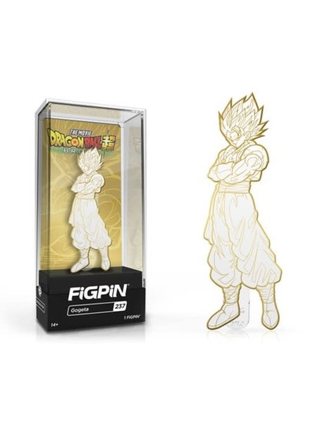Broly Gogeta White and Gold Deco FiGPiN Enamel Pin
