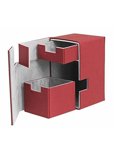 Ultimate Guard UG Deck Case Flip N Tray Xenoskin 100+: Red