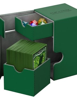 Ultimate Guard UG Deck Case Flip N Tray Xenoskin 100+: Green
