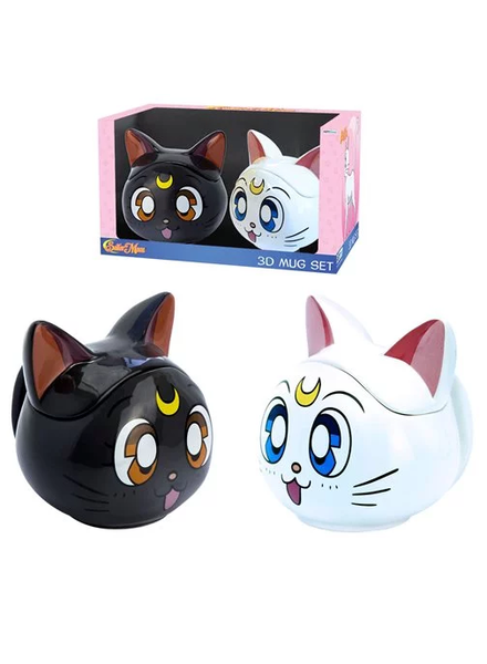 Abysse Sailor Moon Luna and Artemis 3D Mugs Gift Set