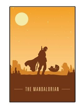 Silver Buffalo The Mandalorian Silo Scene Wood Wall Art