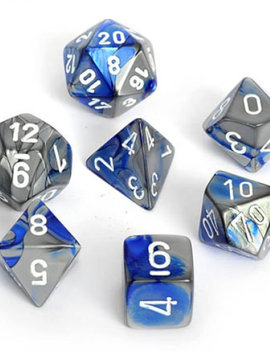 Chessex: Gemini Blue-Steel/White 7-Die Set
