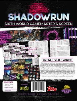 Shadowrun RPG: 6th Edition Gamemaster Screen