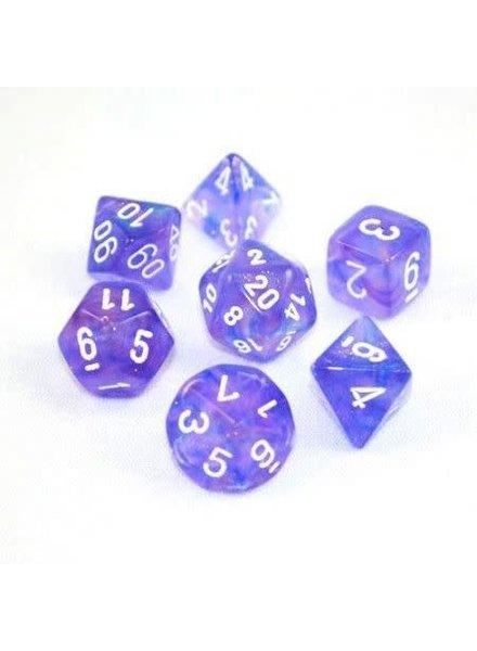 Chessex: Borealis Purple With White 7CT RPG Set