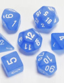 Chessex: Frosted Blue/White 7CT RPG Set