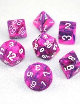 Chessex: Festive Violet/White 7Ct-Die Set