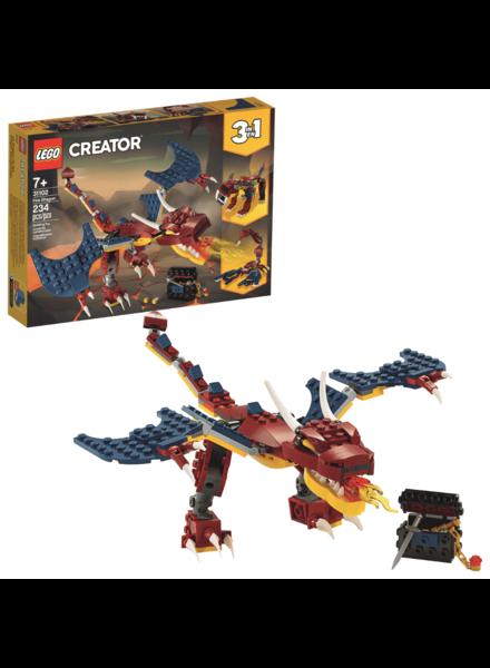 Lego Creator Fire Dragon LEGO #31102